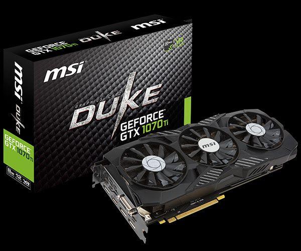MSI GeForce GTX 1070 Ti Duke