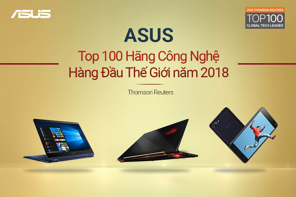 ASUS in TOP 10 Global Tech Leader