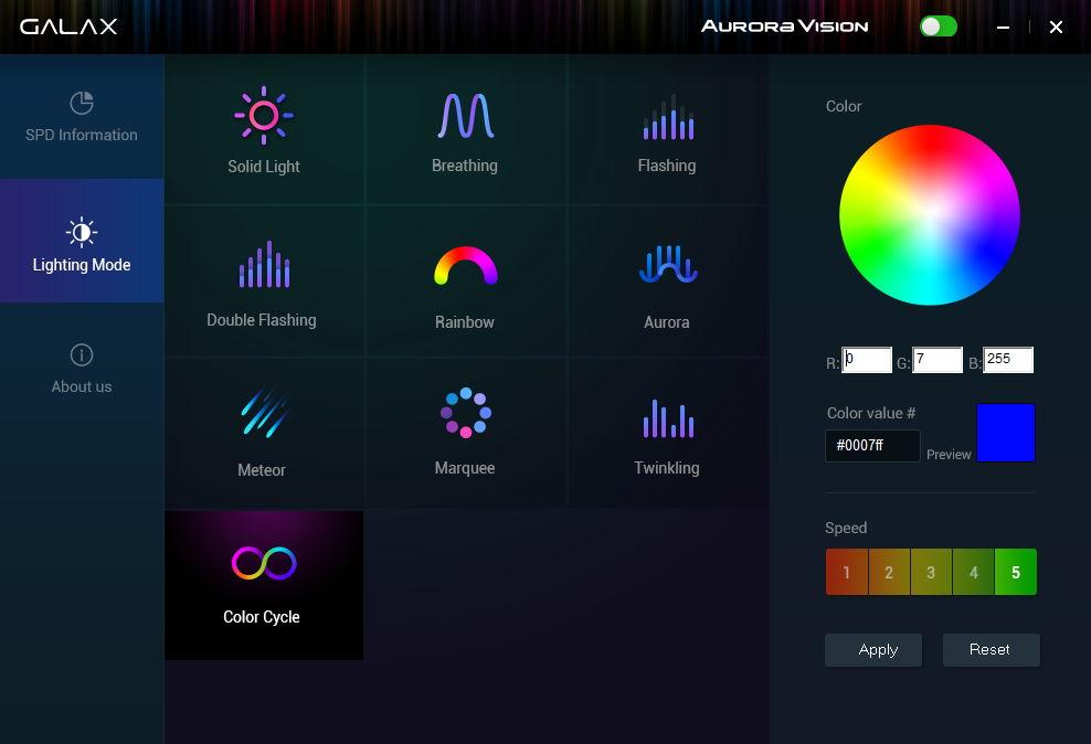 Galax Aurora Vision