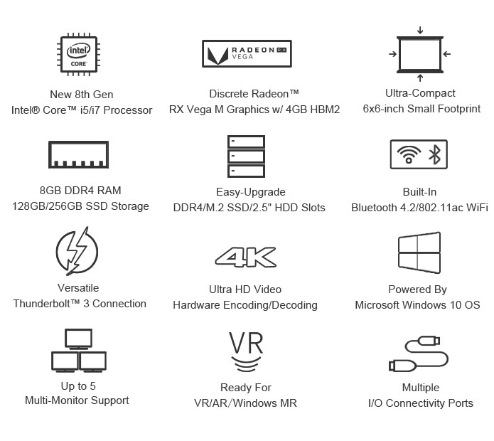 Chuwi HiGame NUC features