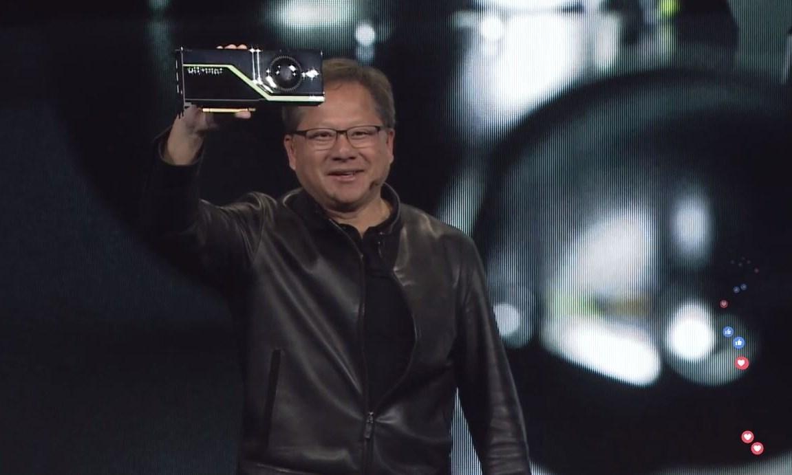 Jensen Huang - CEO NVIDIA with Quadro RTX