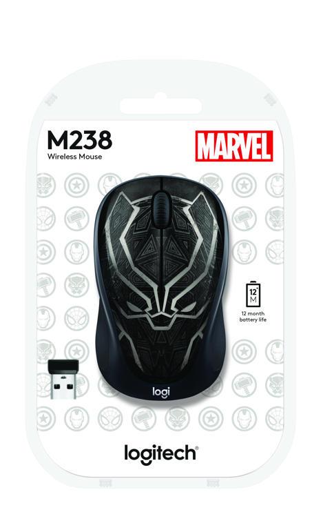Logitech M238 Marvel Collection Black Panther
