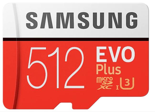 Samsung MicroSDXC 512GB EVO Plus