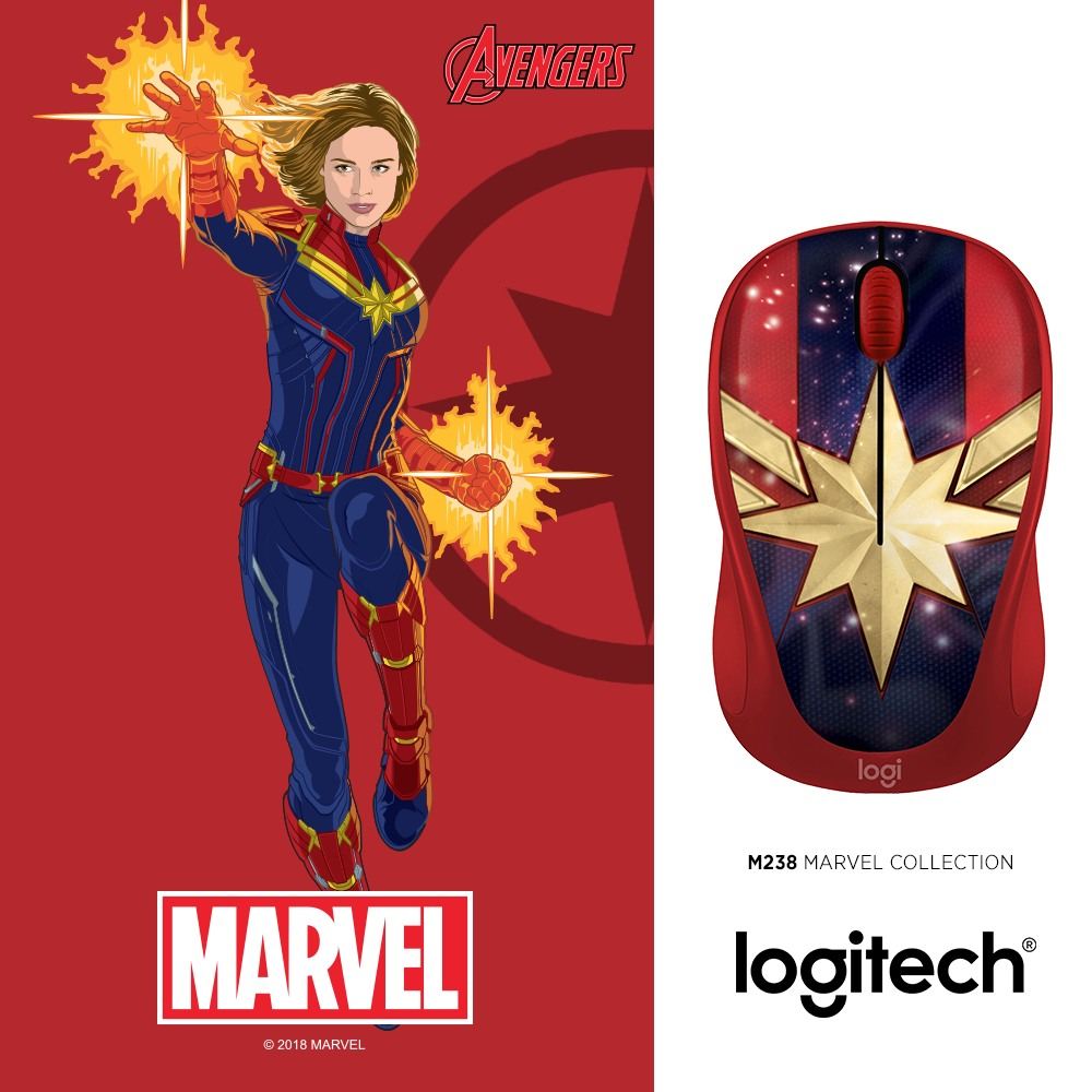 Logitech_M328_Captain Marvel