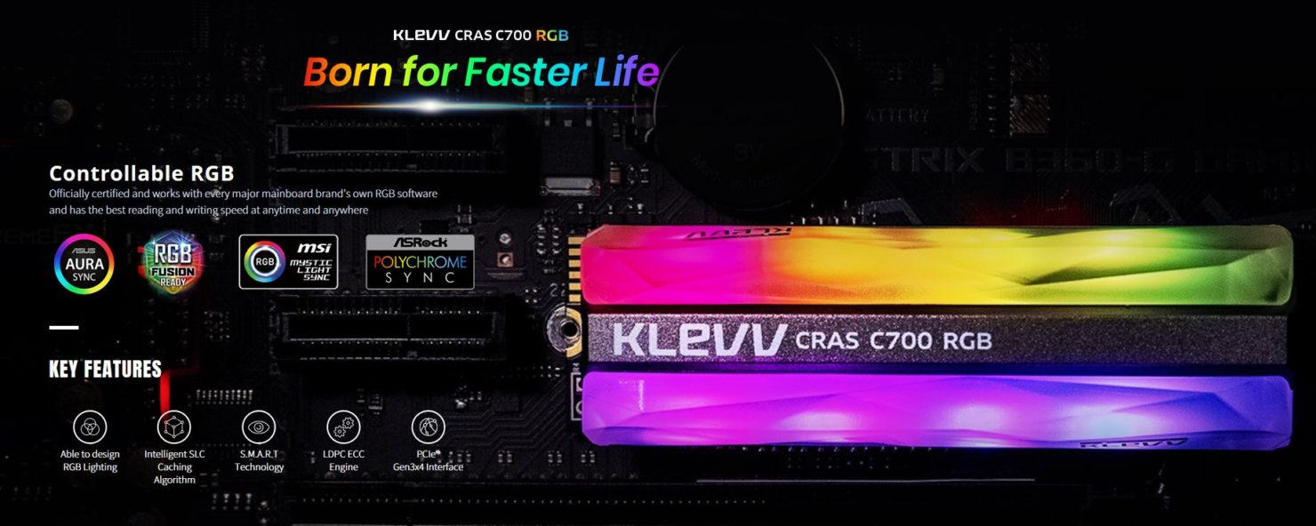 Klevv Crass C700 RGB NVMe M.2 SSD 003