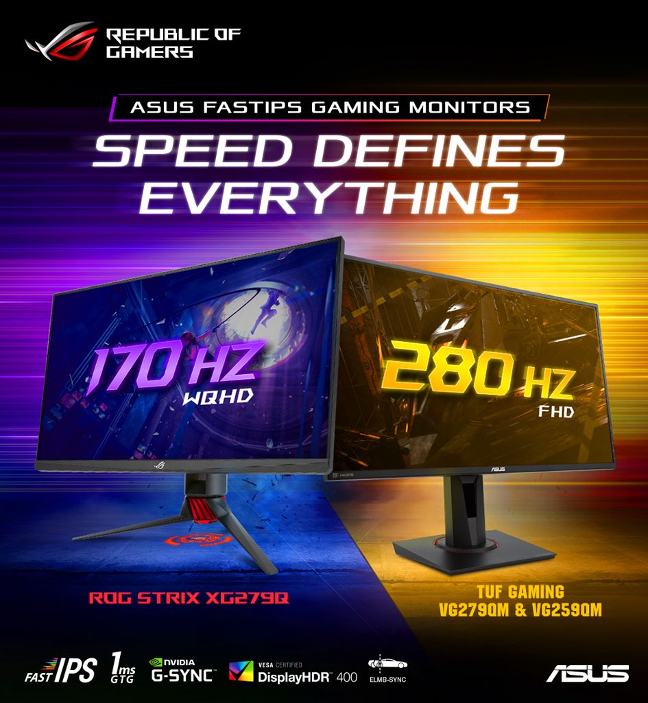 ASUS Announces World's Fastest Gaming Monitors