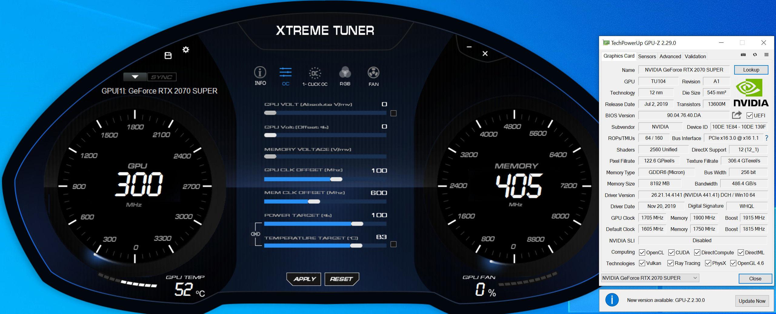 Galax GeForce RTX 2070 Super EX Black (1-Click OC) Xtreme Tuner Plus