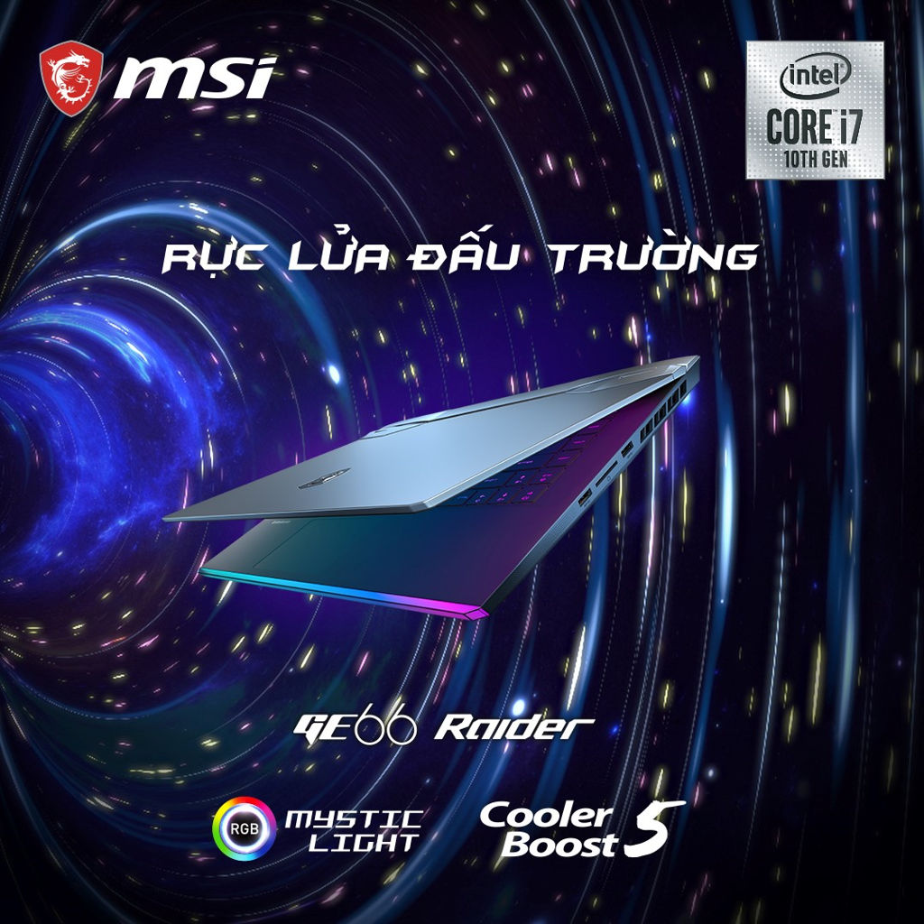MSI GE66 Raider with Intel 10th Core Gen