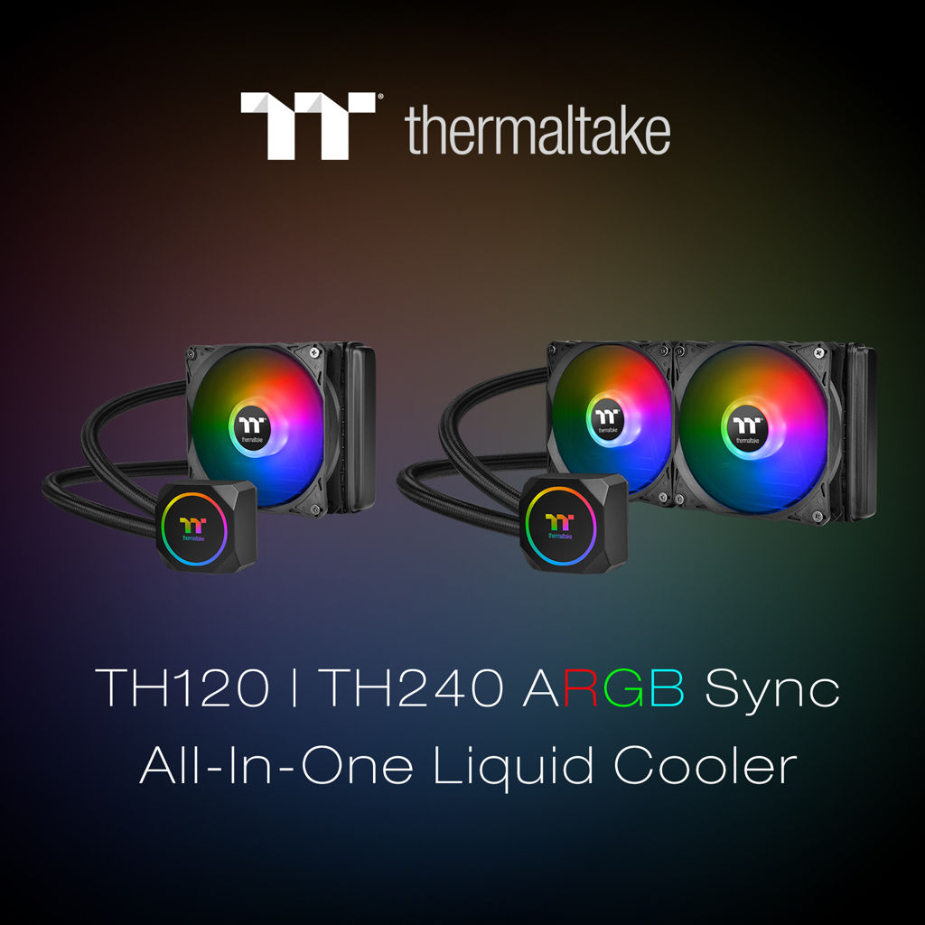 Thermaltake New TH120TH240 ARGB All-In-One Liquid Cooler_1