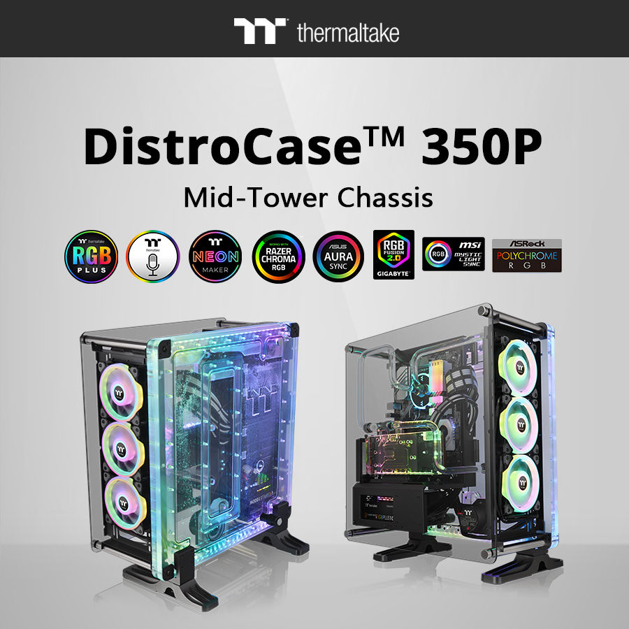 Thermaltake DistroCase 350P Mid-Tower Chassis_2
