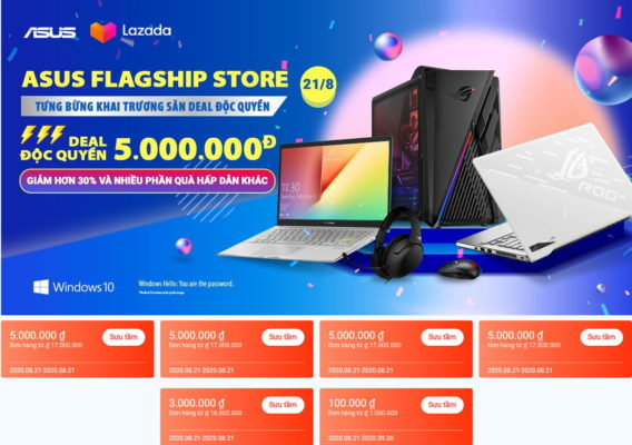 asus flagshipstore x lazmall banner